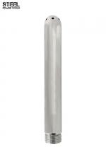 Canule de douche acier - Steel Power Tools : Embout de douche en acier inoxydable, fileté, haute qualité, pour les lavements et le jeu anal.