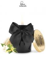 Bougie de massage parfumée Aphrodisia : Bougie de massage parfumée avec l´essence Aphrodisia au pouvoir aphrodisiaque, par Bijoux Indiscrets.