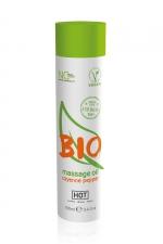 Huile de massage BIO piment de Cayenne - HOT : Huile de massage BIO et Végan au parfum érotique et raffiné piment de Cayenne, par HOT. Flacon de 100 ml.