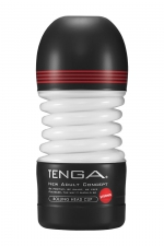 Masturbateur Rolling Head Cup Strong - Tenga : Avec sa tête pivotante, ce masturbateur flexible offre une stimulation du gland à 360° et un serrage puissant.