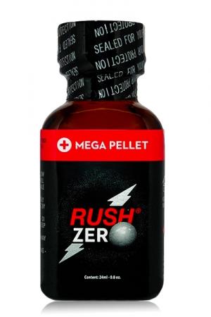Poppers Rush  zero 24 ml - Poppers hybride Pentyle + propyle (24ml), des sensations hyper puissantes et fermeture type  Mega Pellet .